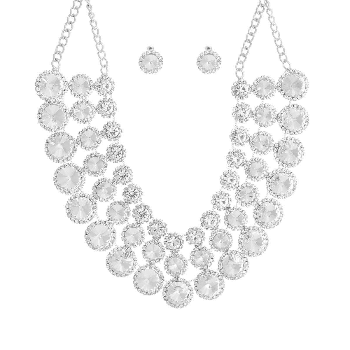 J2161_ConeStone_NecklaceSet_Silver_lux