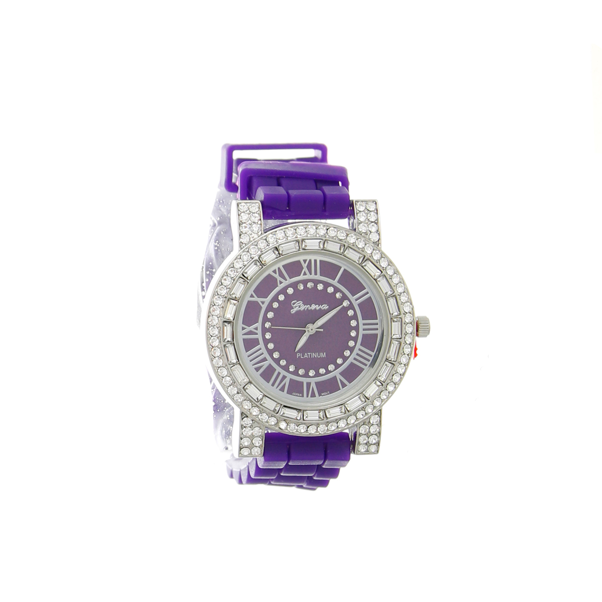 J2328_Circle_Rhinestone_Rubber_Watch_Purple
